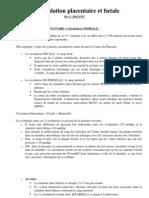 Circulation placentaire - Cours Maïeutique Dr JOGUET P1 - UE8 - UE11