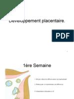 Developpement placentaire - Cours Maïeutique JOGUET P1 03-2011 - UE8