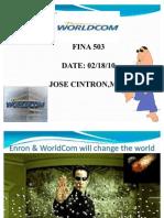 Enron and worldcom scam
