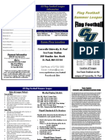 CU Flag Football Brochure