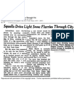 Snow on March 18, 1973