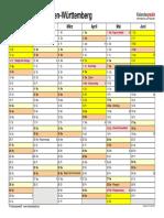 Kalender 2023 Baden Wuerttemberg Querformat 2 Seiten