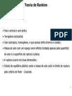 CAPITULO V - PRESSÃO LATERAL DE TERRAS - TEORIA DE RANKINE