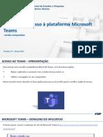 2. Tutorial de acesso à plataforma Microsoft Teams - versão computador