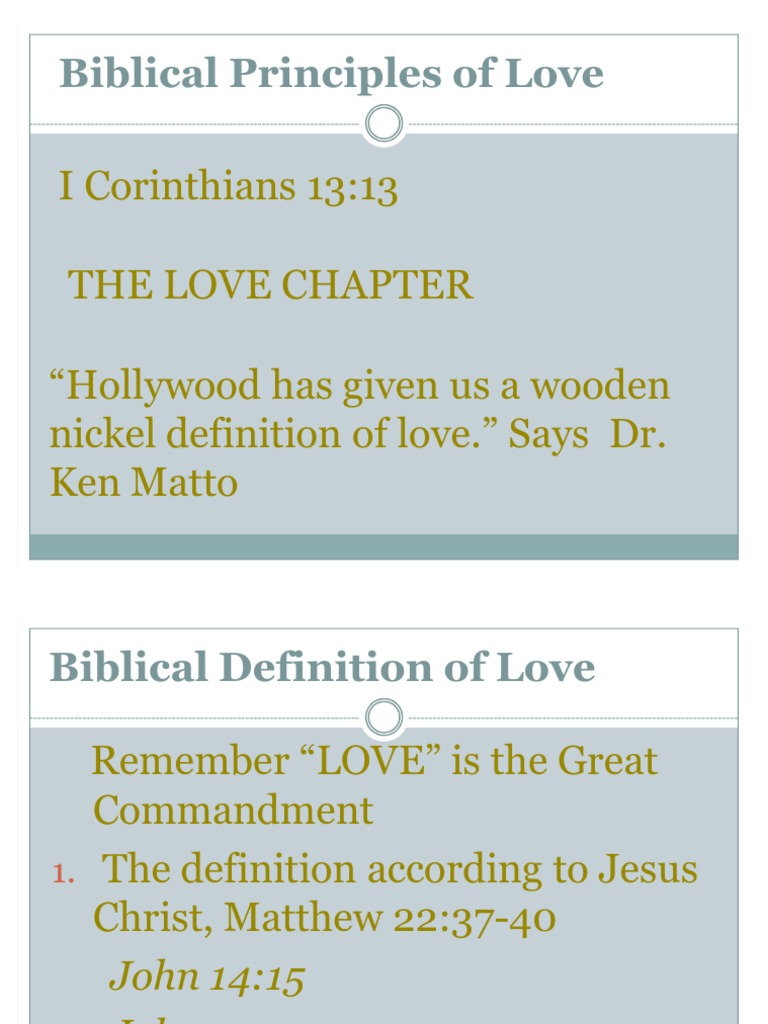 the biblical principles of love - copy | born again | patience