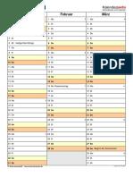 Kalender 2021 Hochformat 4 Seiten