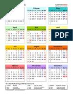 Kalender 2021 Hochformat Jahresuebersicht in Farbe