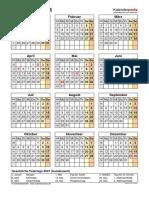Kalender 2021 Hochformat Jahresuebersicht