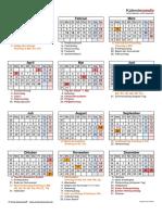 Kalender 2021 Hochformat Feiertage Festtage
