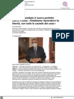Ancona, insediato il nuovo Prefetto Darco Pellos - Centropagina.it, 31 maggio 2021