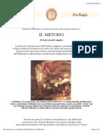 Alchimia Ed Ermetismo, Paolo Lucarelli - Il Metodo