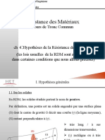 02 Hypothèses de la RDM -Torseur de cohésion