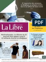 Journal La Libre Belgique-Edition Nationale-04!06!2021