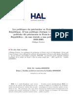 Philippe Poirrier - Les politiques du patrimoine en France sous la Ve République D'une politique étatique a une politique