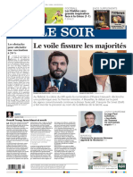 Journal LE SOIR Edition BRUXELLES du 04 Juin 2021