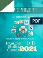 CARTILLA 10B SEGUNDO PERIODO 2021