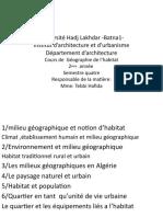 Géographie de l'Habitat 2