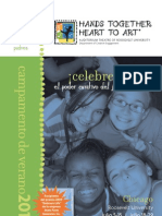 Hands Together, Heart to Art Camp 2011 Brochure - Spanish