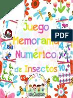 Juego de Memorama Numérico de Insectos by Materiales Educativos Para Maestras