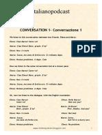 CONVERSAZIONE 1