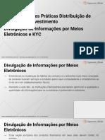 A029 - Cod. Melhores Praticas Dis. Prod. Investimento - Divulgação de Informações Por Meios Eletrônicos e KYC