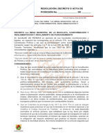 Decreto Mesa Municipal Bicicleta