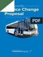 Community Transit - Fall 2020/Spring 2021 Service Change Proposal