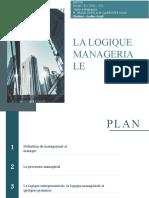 Cours La Logique Managériale