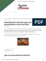 ? Qué es la Automatización Industrial, cómo funciona y ejemplos