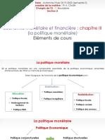Chapitre III (Politique Monétaire)
