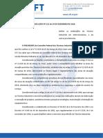 RESOLUCAO No 121.2020 - Define as Atribuicoes Do Tecnico Em Eletromecanica