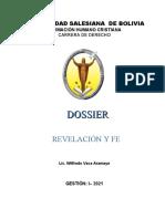 Dossier Revelación y Fe