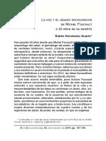 Hernandez, 2014. Foucault y El Legado en La Sociología