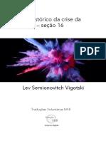 seção 16 Significado historico da crise da psicologia