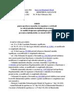 Ordin Pentru Aprobarea Măsurilor de Organizare a Activităţii În CadrulINISTRATIE PUBLICA 3235_2021 - Publicare 05 Februarie 2021