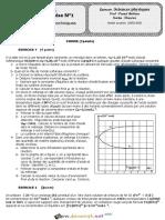 Devoir de Synthèse N°1 - Sciences physiques - Bac Technique (2020-2021) Mr Foued Bahlous