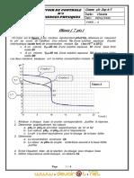 Devoir de Contrôle N°3 - Physique-Chimie - Bac Technique (2009-2010) Mr mourad barhoumi