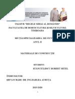 Model Referat- Constructii Forestiere- Silvicultura Anul II