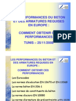 LES PERFORMANCES DU BETON ARME