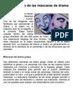Actividad 01 - El significado de las máscaras de drama - LECTURA