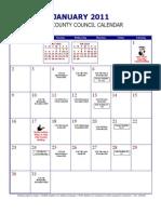Indianapolis City-County Council Calendar 2011