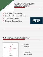SISTEMAS MONOCLINICO Y