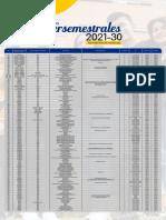 Oferta Académica de Intersemestrales 2021-30