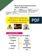 1.4. Identificacion de Riesgos y Peligros en Nuestro Colegio