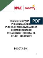 IDPAC-PCI-OT-16 Requisitos Para La Presentacion de Propuestas