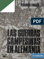Las Guerras Campesinas en Alemania - Friedrich Engels