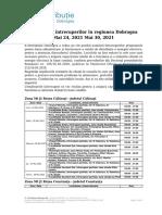 Intreruperi programate in zona Dobrogea 24.05.2021 - 30.05.2021