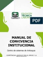 PRESENTACIÓN MANUAL DE CONVIVENCIA CENSA