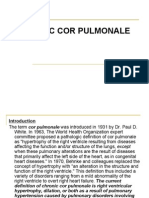 Chromic cor pulmonale