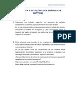 Tecnología y estrategia en empresa de servicio